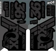 Fox 36 2018 Style Sticker Decal Sets- Enduro, DH, Stealth Black/Grey