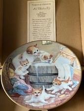All Washed Up Cat Plate Country Kitties 1988 Hamilton plate Gre' Gerardi 0330D