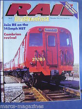 RAIL ENTHUSIAST DECEMBER 1985 NO 51 NEWCASTLE KINGS CROSS 145 MPH CAMBRIAN 6V70