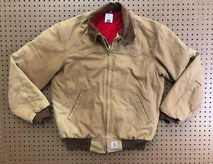 MENS MEDIUM - Vtg Carhartt Duck Flannel Quilted Lined Santa Fe Jacket USA