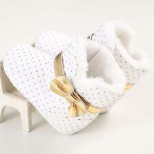 Kids Baby Toddler Infant Girl Gilding Snow Boots Soft Crib Sole Prewalker Shoes