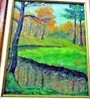 Jokūbas Jacob Dagys Oil Painting Modernist Expressionist Landscape Original MCM