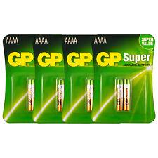 8 x GP Alkaline Super AAAA batteries LR8D425 1.5V MX2500 LR61 Pack of 2