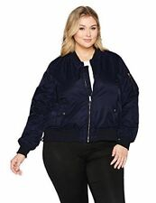 ee8a703eef9 Steve Madden Women s Plus Size BLACK Satin Bomber Jacket SIZE 1X