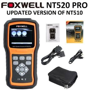 VW VOLKSWAGEN AUDI FOXWELL NT520 PRO DIAGNOSTIC SCANNER TOOL ABS READER NT510