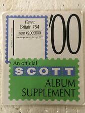 2000 Great Britain #54 Scott Stamp Album Supplement Pages Sealed Packs