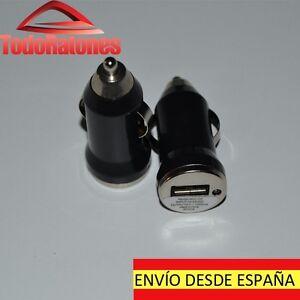 ADAPTADOR CARGADOR USB MECHERO PARA IPHONE SAMSUNG LG SONY CARGA COCHE 1A NEGRO