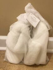 NEW Pottery Barn SMALL Sherpa Faux Fur Cozy Booties IVORY