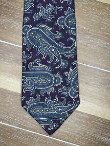 Robert Talbott Silk Mens Tie Necktie Nordstrom Paisley Burgandy Blue Green