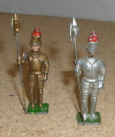 Vintage Britains / Timpo / Crescent lead knights x 2