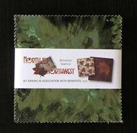 "(40) 5"" Fabric Squares - Benartex NORTH BY NORTHWEST Camping & Nature Assortment"