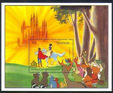 Grenada 1987 Disney/Snow White/Horse/Castle/Film/Cartoon/Animation 1v m/s d00215