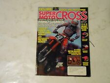 AUGUST 1989 SUPER MOTOCROSS MAGAZINE,1989 HELMET GUIDE,90 PROTOTYPES,MATIASEVICH