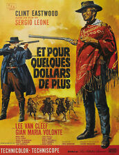 For a few dollars more 1965 Clint Eastwood cult western Movie poster print 3