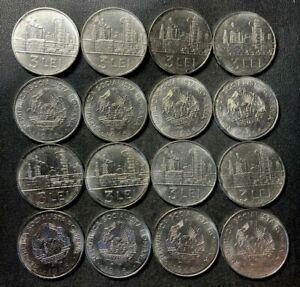 Old Romania Coin Lot - 3 LEI - 16 AU/UNC Coins - Cold War - Dealer Lot - Lot L26