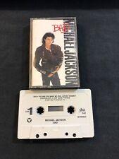 Michael Jackson Bad Cassette Audio Tape Epic ET40600 VTG 1987- 1st Print VG+