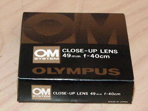 OLYMPUS OM ZUIKO 49mm CLOSE UP LENS NEW IN BOX