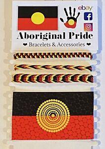 3 x Aboriginal Pride Bracelets And Magnet Pack. ❤️💛🖤 Aboriginal Flag BLM