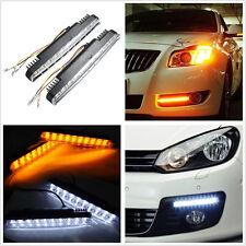 2Pcs 30 LED Car Truck Daytime Running Lights White DRL+ Amber Turn Signal 12V DC