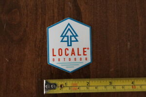 LOCALE OUTDOOR Apparel STICKER Decal NEW White