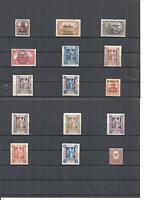 Abstimmungsgebiete 1920, Einzelmarken, Auswahl aus MiNrn: 1 - 43, postfrisch **