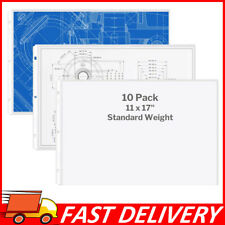 11x17 Sheet Protectors Landscape 10 Pack Ledger Plastic Sleeves 3 Hole Punched
