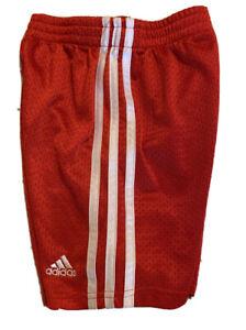 Boys Red Adidas Mesh Shorts Size 4