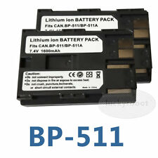 2X BP-511A BP511A BP-512 Battery For Canon EOS 300D 10D 20D 30D 40D 50D G2 G5 G6