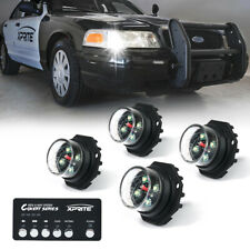 Xprite 4 Pack Led Strobe Lights Kit White Emergency Warning Hideaway Driving