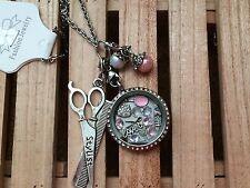 Hair Stylist Hairdresser  Memory  Locket Necklace