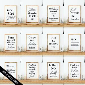 Inappropriate Humour Wall Art Prints. Quality Home Prints Funny Rude Room Print