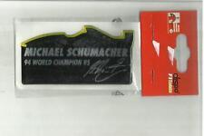 ADESIVO VINTAGE STICKER michael schumacher collection in materiale plastico mod3
