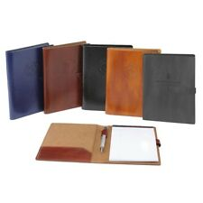 Italian Leather Business Padfolio Portfolio Organizer Resume Folder: 5 Colors
