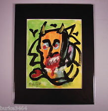 ABSTRACT Painting Wall ART Modernist Expressionism Modern VAMPIRE LOVE FOLTZ 4