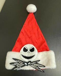 Disney Nightmare Before Christmas Jack Skellington Santa Hat - XMAS - EUC