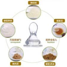 Cute Wide Mouth Feeding Bottle Nipple Spoon Rice Paste Food Spoon Food Feeder H