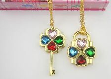 Shugo Chara Color Cosplay Openable Lock & Key Necklace Pendant Brand New