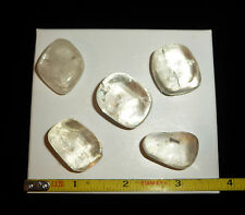 DINO: Citrine Optical CALCITE CRYSTAL Polished Stones, Mexico - 73 grams