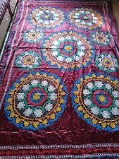 Vintage Uzbekistan Suzani wall tapestry - Suzani  wall hanging 285 x 190 cm