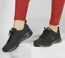 Skechers Black Shoes Women's Memory Foam Sport Air Cushion Comfort Casual 12721