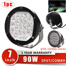 "7"" 90W Spot/Combo LED Driving Work Light Offroad 4WD Jeep SUV Truck 9000lm"