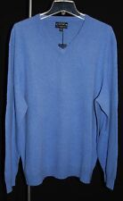 CLUB ROOM Estate 2-Ply Cashmere French Blue Men's V-Neck Sweater XXL $195 NWT