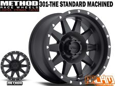 SET OF 4 METHOD RACE WHEELS 15X7 301 THE STANDARD MAT BLACK -6 OFFSET 4WD WHEELS
