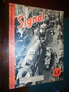 Rivista SIGNAL  n.4 - 2° febbraio 1943 Guerra WWII Soldati Aerei Bombardamenti