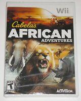 Nintendo Wii Video Game - Cabela's African Adventures (New)