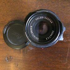 objectif voigtlander Color-Skopar 35 mm f/2.5