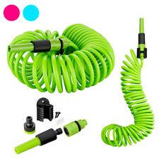 Tubo Estensibile da Giardino Terrazzo Pompa Irrigazione Spirale 10mt 3 Colori