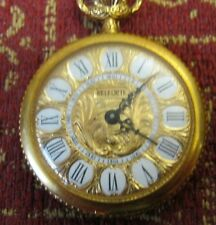 Watch Greek Key Necklace Runs Great! Vintage Fancy Belforte 7 Jewels Pendant