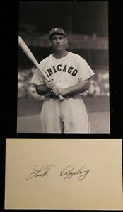 Luke Appling Chicago White Sox Signed Index Card HOF D 1991