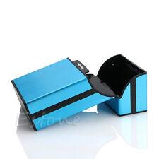 New Blue Pocket Aluminum Metal Cigarette Storage Cigar Case Tobacco Box Holder